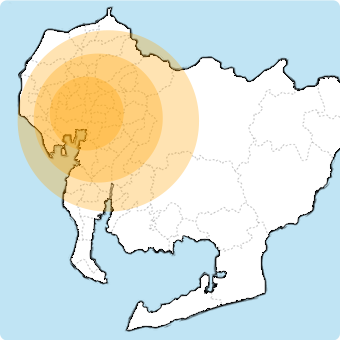 名古屋市を中心に愛知県全域